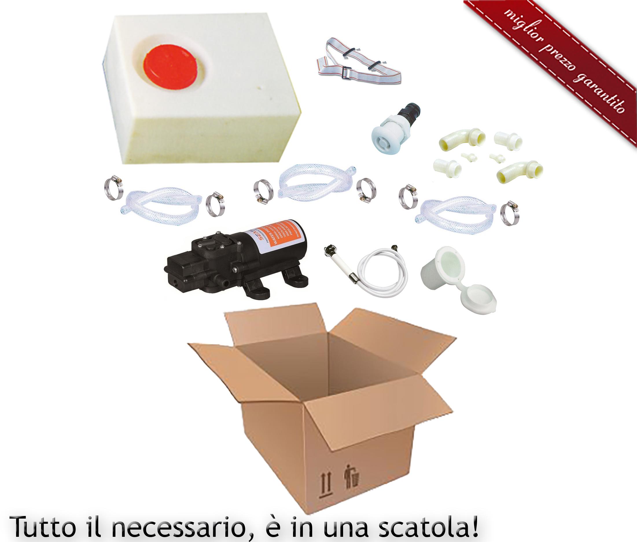 Kit completo per doccetta barca camper gommone for Doccetta barca